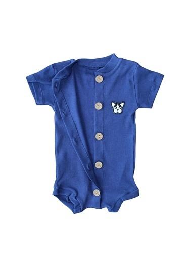 By Bebek Odam By Bebek Odam Dik Yaka Kısa Kol Düğmeli  Bebek Tulum Renkli